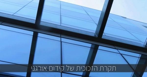 לקידום אורגני אין תקרת זכוכית